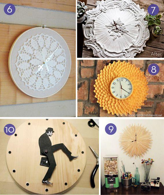 Dags att göra själv: 10 enkla självstudiekurser för väggklockor |  Diy klockvägg, vägg.