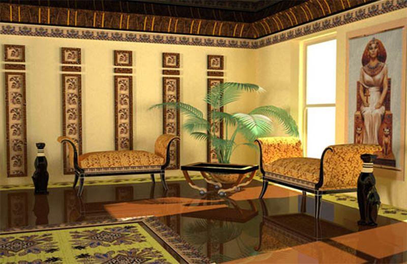 Egyptisk stil, moderna dekorationsidéer |  Egyptisk heminredning.