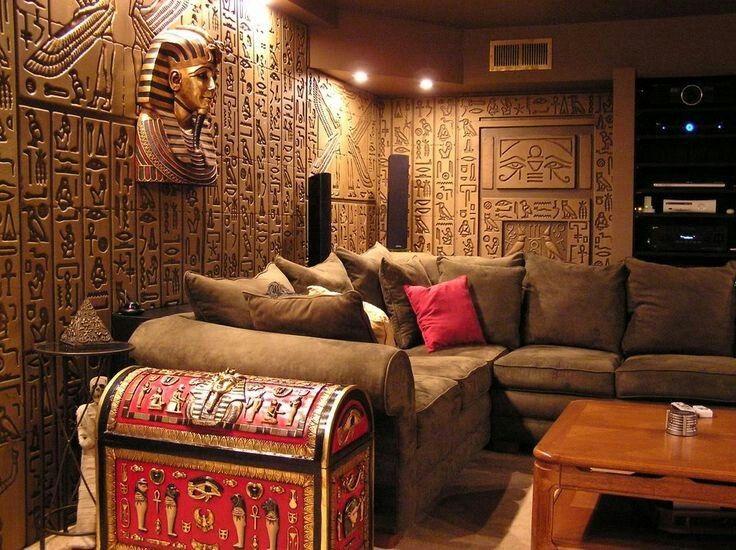 Egyptiskt vardagsrum |  Decoracion egipcia, Decoración de unas.
