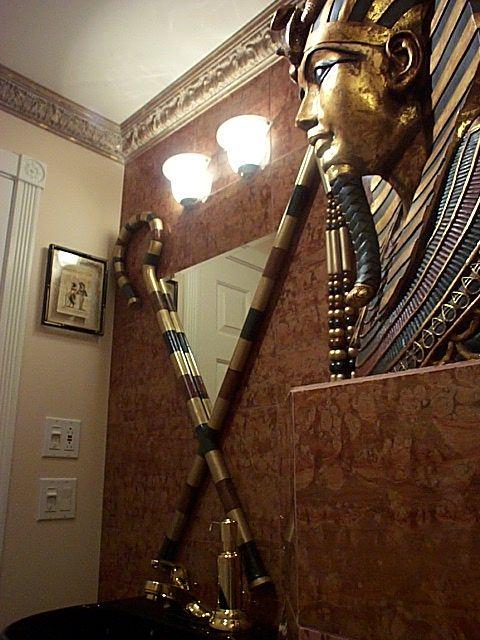 Egyptiskt 1/2 badrum |  Egyptisk heminredning, egyptiska dekorationer.