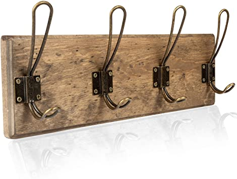 Amazon.com: Väggmonterat kappställ - Rustik träkrok i trä.