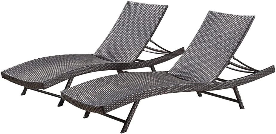 Amazon.com: Christopher Knight Home Kauai Chaise Lounge Set, 2.