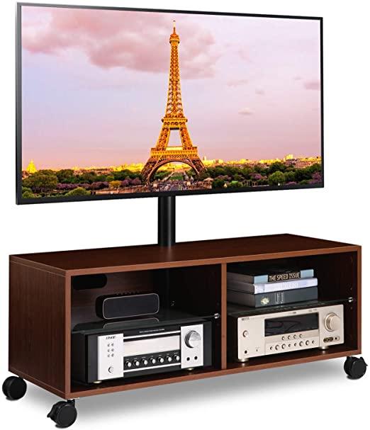 Amazon.com: 5Rcom Rolling Wood Entertainment Center TV-stativ.