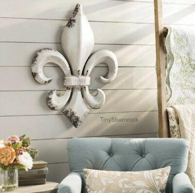 Väggdekor av metall Fleur De Lis fransk lantlig stil 30