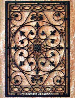 Tuscan Wall Decor - Iron Wall Grille ~ Jag skulle behöva 2 att använda på.