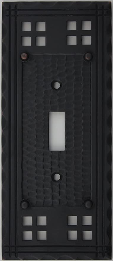Konst & hantverk Mission Style Oil gnuggad brons One Gang Switch.