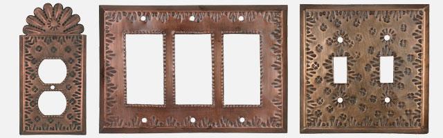 Switch Plates Rustic Tin - Handgjord i Mexiko - Gratis Shippi