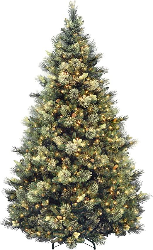 Amazon.com: National Tree Company tänder konstgjord julgran.