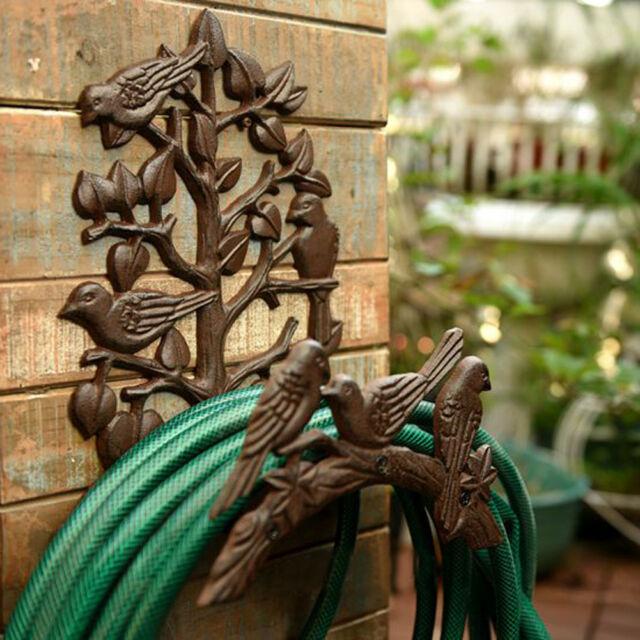 Kraftig gjutjärnsslanghållare, trädgård & trädgård dekorativ vägg.