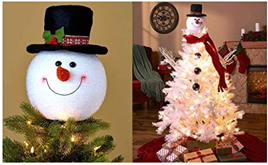 Amazon.com: KNL Store Frosty Snowman Top Hat Christmas Tree Topper.