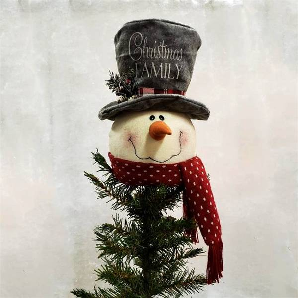 Christmas Is Family Snowman Tree Topper 7D4964    Buffalo Trader Onli