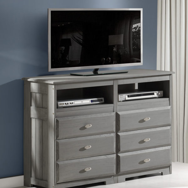 Discovery World Furniture Charcoal Media Chest - KFS STOR