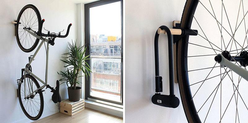 Denna minimalistiska väggmonterade cykelkrok med flera användningsområden behöver inte.