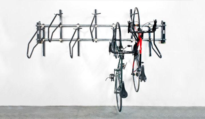 Vertikal + inget Scratch® väggmonterat cykelställ    Sportwor