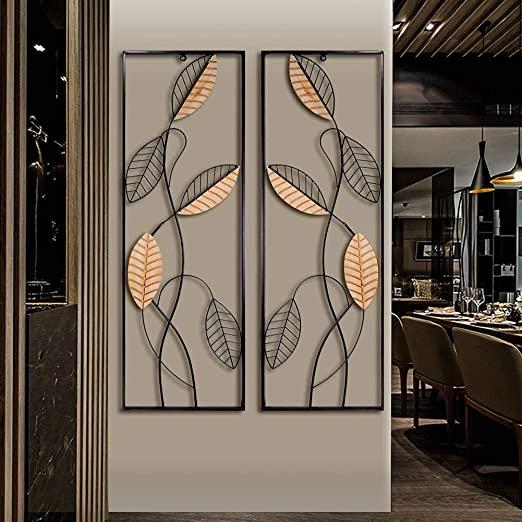 Amazon.com: Metal Wood Wall Panel Décor, Black Metal Wall Art.