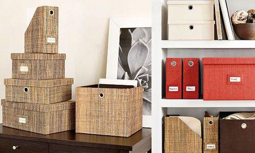 Dekorativa filrutor |  Arkivlådor, dekor, lägenhet inspirati