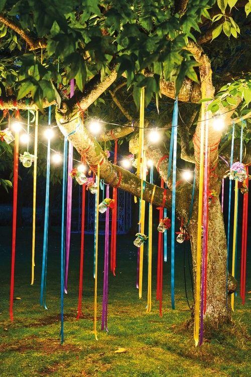 party ljusidé: önskar att jag hade ett träd i min trädgård.  |  Utomhus.