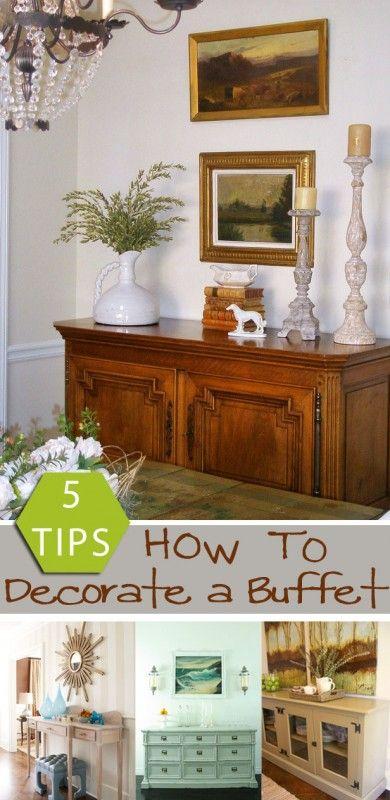 5 tips: Hur man dekorerar en buffé remodelaholic.com #decorate.
