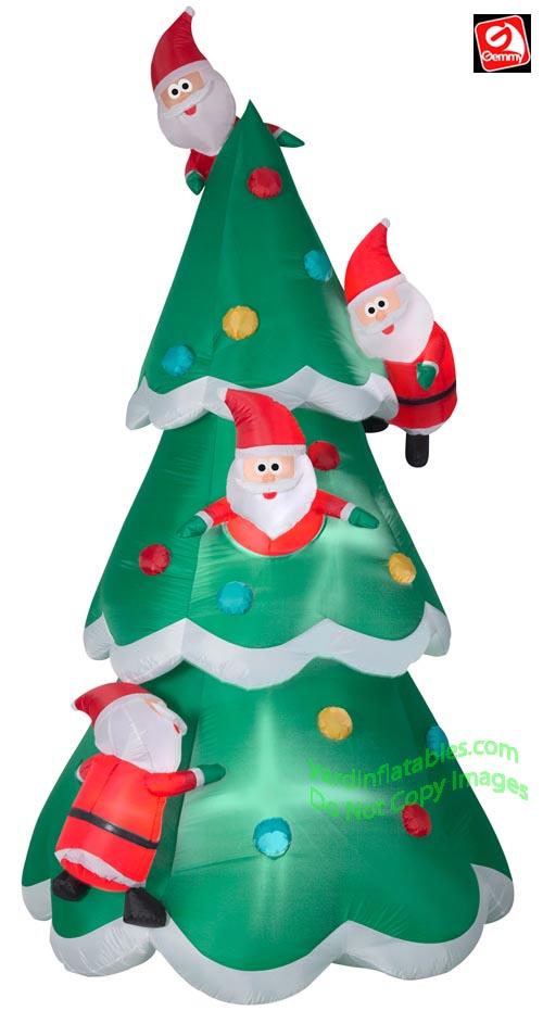 9 'Gemmy Airblown uppblåsbar julgran av många jultomten