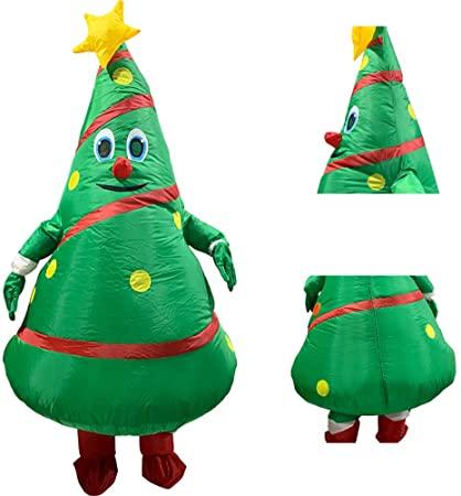 Amazon.com: Uppblåsbar julgrandräkt, uppblåsbar jul.