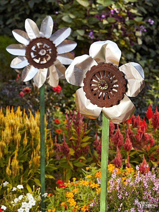 Enkla trädgårds accenter att göra dig själv |  DIY trädgård, trädgård konst.