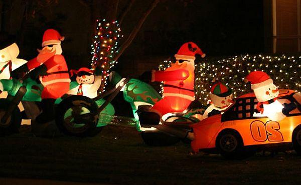 Utomhus uppblåsbara dekorationer för julen
