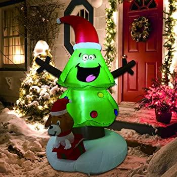 Amazon.com: GOOSH Christmas Outdoor Decorations Uppblåsbara träd.