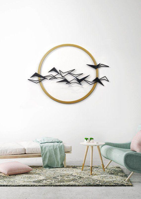 Black Birds Metal Wall Art Metal Home Decor Flying birds    Etsy.