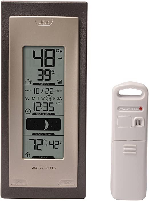 Amazon.com: AcuRite 00592A4 Trådlös inomhus- / utomhustermometer.