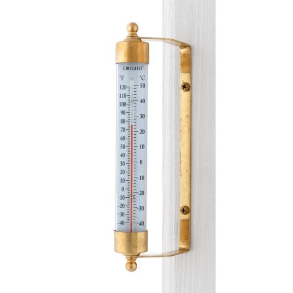 Unbranded Vermont inomhus / utomhus termometer bor i mässing-T1LFB.