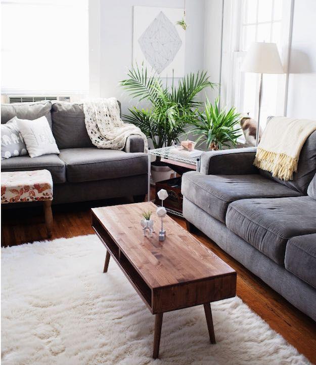 Retro smalt soffbord |  15 smala soffbord idéer för små.