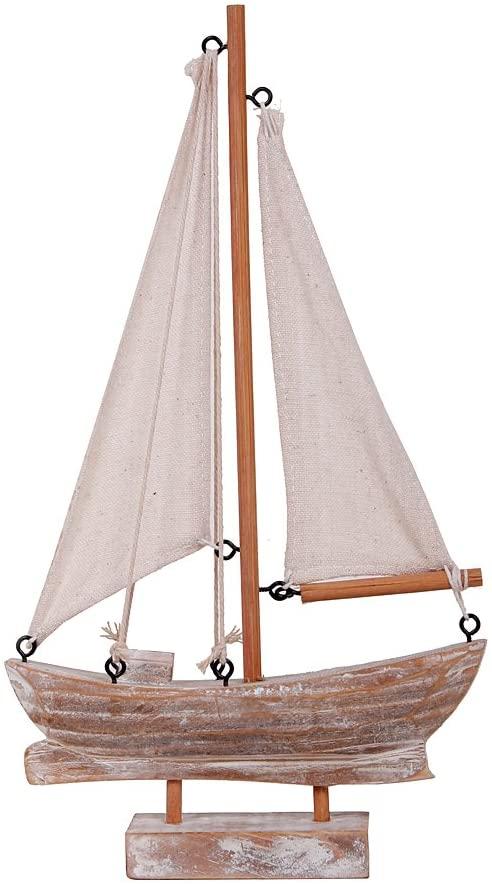 Amazon.com: YK Decor Wood Boat Nautical Themed Home Decorating Toy.