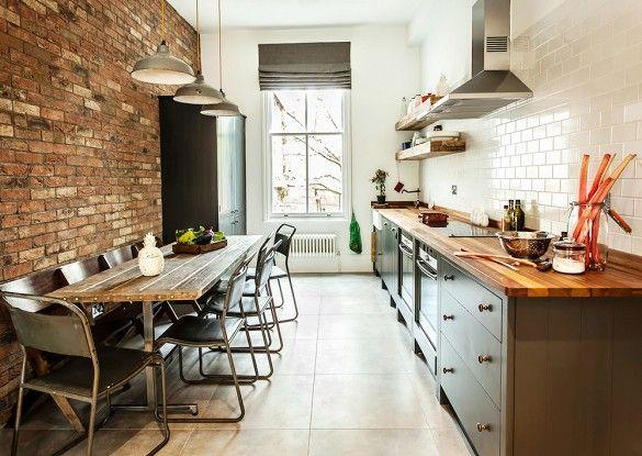 20 kök för kök som maximerar utrymme och stil    Industriell.