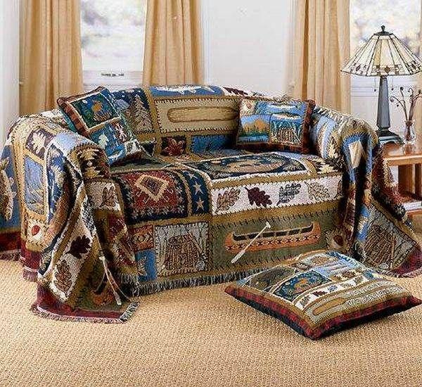 kreativa sofföverdrag idéer färgglada lantlig täcke dekorativa.