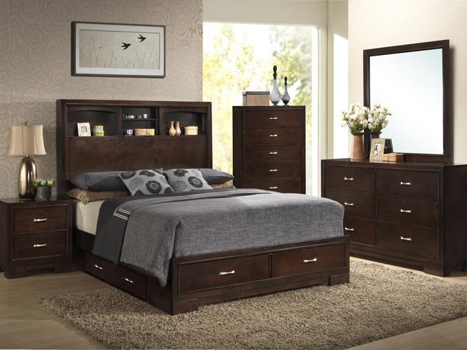 Dark Walnut Queen Bedroom Package - Bailey's Furnitu