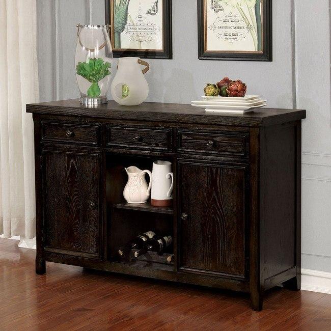 Patience Server (Dark Walnut) Furniture of America |  Möbler Ca