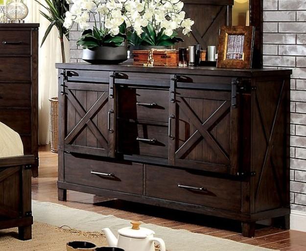 Bianca Dark Walnut Wood Dresser från Furniture of Ameri