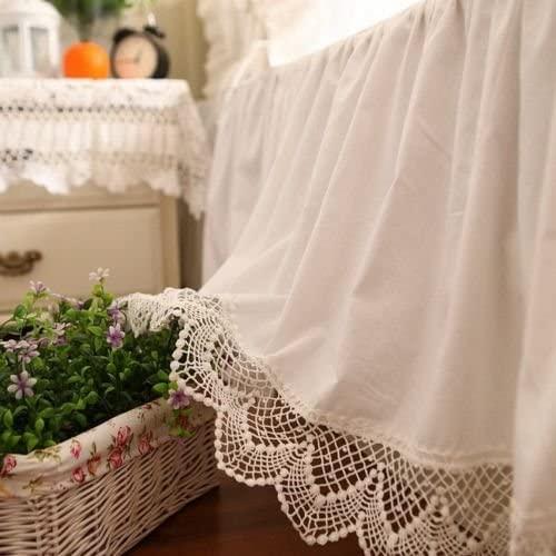 Amazon.com: Swanlake Shabby och Victorian Style White Wide Lace.