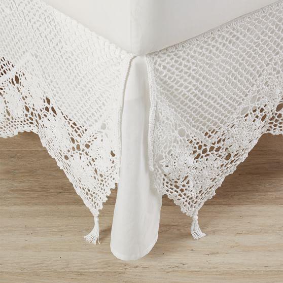 Sweet Crochet Girls 'Bed Kjol |  Pottery Barn Te