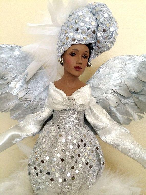 African American Christmas Angel Sparkle från DivineAngelShop.