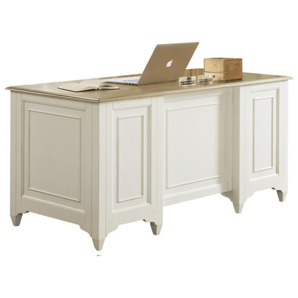 Myra White Executive Desk av Riverside Furniture |  Babette's.