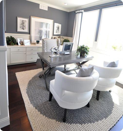 Modernt elegant kontor - superkraftigt.     Hemmakontorsdesign, hem.