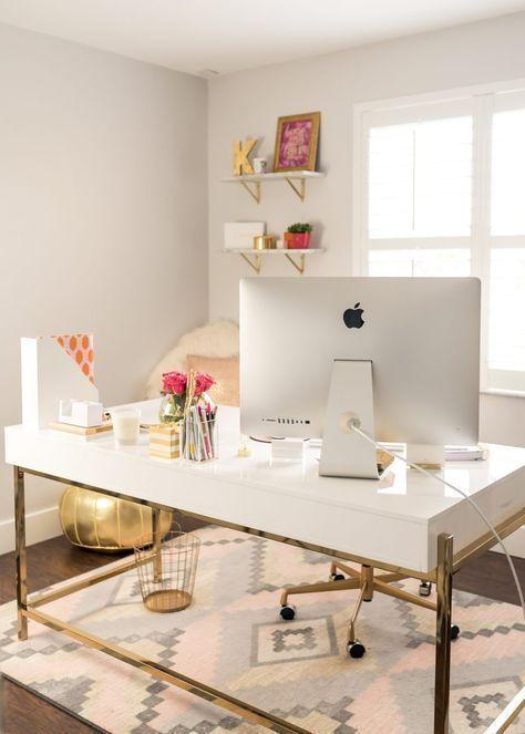 Här är några idéer och kontorsutrustning för en modern, chic.