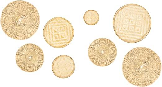 Amazon.com: Bambu väggkonst - Set med 8 dekorativa skulpturer för.