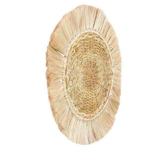 Sage Woven Rotting Round Wall Art, 28