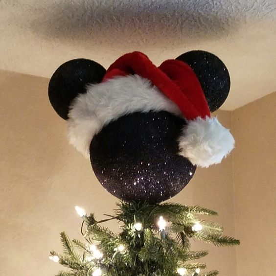 Mickey Mouse Tree Topper |  Disney julgran, Disney jul.