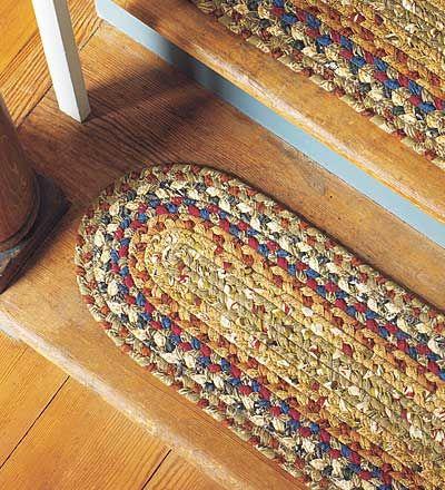 Flätade trappstegspår  Trappsteg, Flätade mattor, Flätad matta d