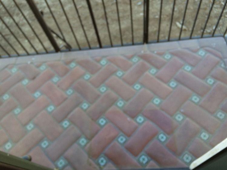 Små insatser för kakelgolv |  Måla keramiska plattor.