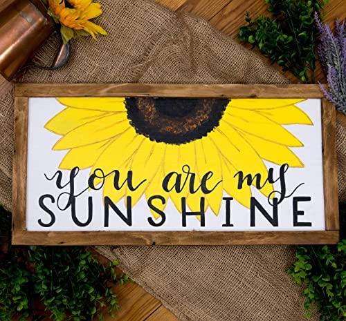 Amazon.com: Du är mitt solskylt, solros väggkonst för.
