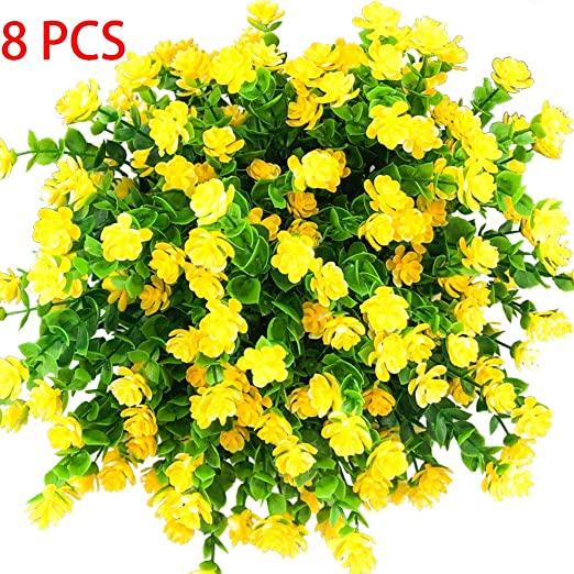 Amazon.com: E-HAND Konstgjorda blommor Gula växter utomhus.